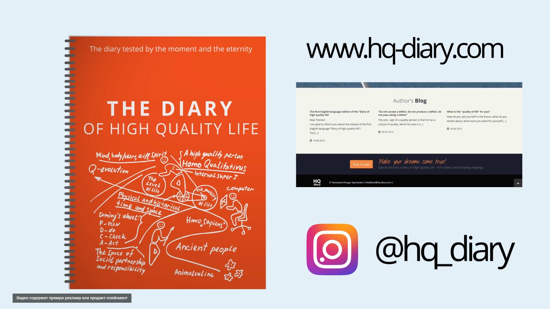 Diary of high quality life